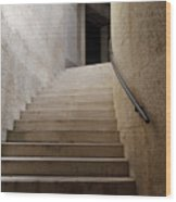 Abstract View Of Stone Curved Staircase At The World War I Monum Wood Print