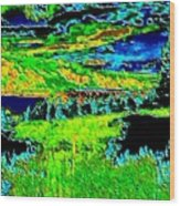 Abstract Vista Wood Print