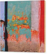 Abstract Wall By Michael Fitzpatrick Wood Print