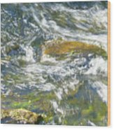 Abstract Water Art Vii Wood Print