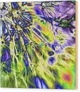 Abstract Wildflower 5 Wood Print
