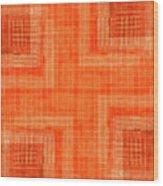 Abstract Window On Orange Wall Wood Print
