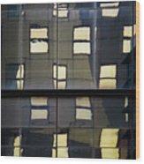 Abstract Window Reflections - Nyc Wood Print
