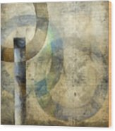 Abstract With Circles Wood Print