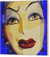 Abstract Woman #2 Wood Print