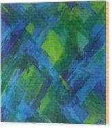 Abstract X Wood Print