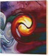 Abstract Yin Yang Lava Wood Print