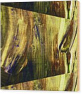 Abstracted Lines Wood Print