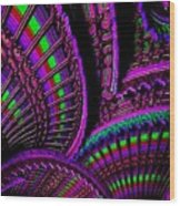 Abstracticalia Fantalia - In Purple - Catus 1 No. 1 L B Wood Print