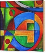 Abstraction 1723 Wood Print