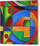 Abstraction 1724 Wood Print