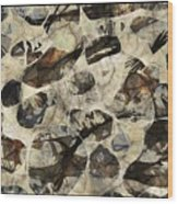 Abstraction 2323 Wood Print