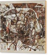 Abstraction 2406 Wood Print