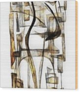Abstraction 2430 Wood Print
