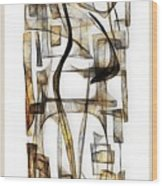 Abstraction 2431 Wood Print