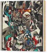 Abstraction 2502 Wood Print