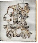 Abstraction 2807 Wood Print