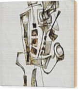 Abstraction 2842 Wood Print