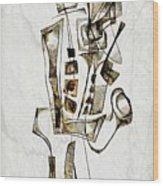 Abstraction 2844 Wood Print