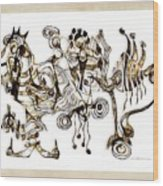 Abstraction 2869 Wood Print