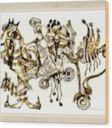 Abstraction 2872 Wood Print