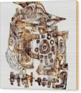 Abstraction 3052 Wood Print