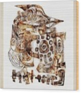 Abstraction 3055 Wood Print