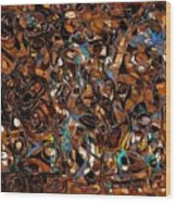 Abstraction 3374 Wood Print