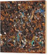 Abstraction 3375 Wood Print