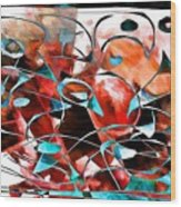Abstraction 3422 Wood Print