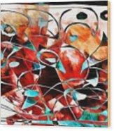 Abstraction 3423 Wood Print