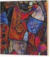 Abstraction 858 -marucii Wood Print