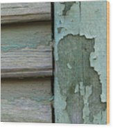 Abstraction In Peeling Paint Close-up Wood Print