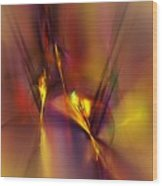 Abstracts Gold And Red 060512 Wood Print