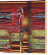 Abstrakt 53 Wood Print
