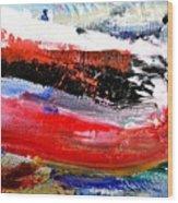 Abstraktes Bild 25 Wood Print