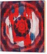 Abstraktes Kaleidoskop Wood Print