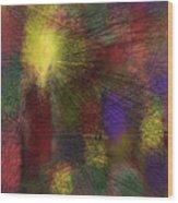 Abstraktion in Farben Wood Print