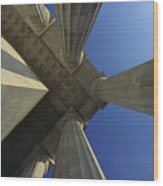 Abstrat View Of Columns At Lincoln Wood Print