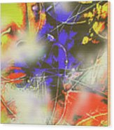 Abstrato Zzzm Wood Print