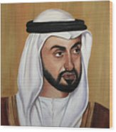 Abu Dhabi Crown Prince Wood Print