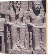 Abu Simbel In Egypt Wood Print