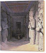 Abu Simbel Temple, 1838 Wood Print