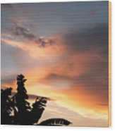 Abuja Sunset Wood Print