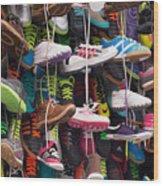 Abundance Of Shoes Wood Print