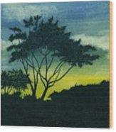 Acacia Tree Wood Print