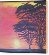Acacias At Masai Mara Wood Print