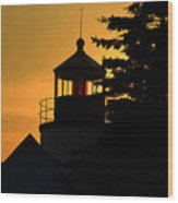 Acadia Lighthouse Wood Print by Barry Shaffer