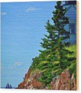 Acadia Lighthouse Wood Print