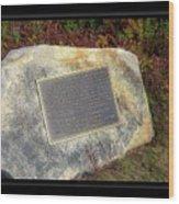 Acadia National Park Centennial Plaque Wood Print